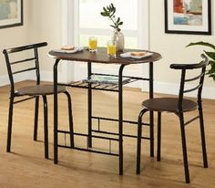 Small Kitchen Table Sets And Chairs Dining Small Spaces 3-Pc Compact Bistro  #TMS #Contemporary