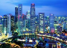 The Island Country of Singapore in South East Asia