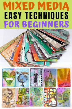 How to make an altered playing cards collage with different mixed media techniques Mixed Media Tutorials, Mixed Media Techniques, Art Journal Techniques, Art Journal Pages, Art Journals, Journal Ideas, Art And Craft Videos, Diy Arts And Crafts, Smash Book Inspiration