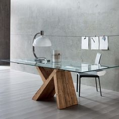 Sedit extending table in real aged fir stained linseed oil base L 95 - at My Italian Living Ltd