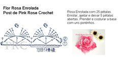 crochelinhasagulhas: Rosa em crochê com PAP …