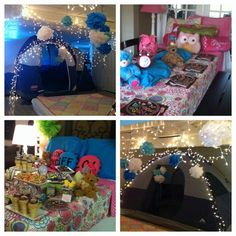 "night owl themed birthday party | slumber party ideas / ""Night Owl"" theme slumber birthday party by ..."