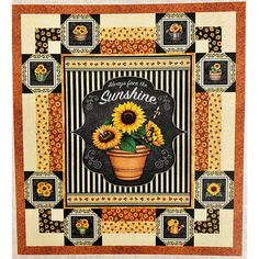 Quilting Treasures Fabrics Always Face Sunshine Gather Around Quilt Kit | Quilt Kit Hancocks Of Paducah, Quilt Kits, Quilt Top, Quilt Patterns, Sunshine, Quilts, Face, Fabric, Tejido