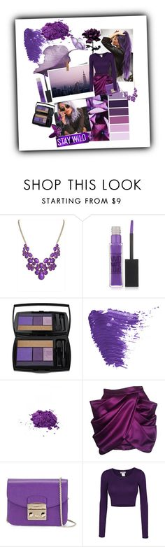 """""""First set"""" by maryann-bunt-deile ❤ liked on Polyvore featuring ANNA, Maybelline, Lancôme, Topshop, Medusa's Makeup, Balmain, Furla and LE3NO"""