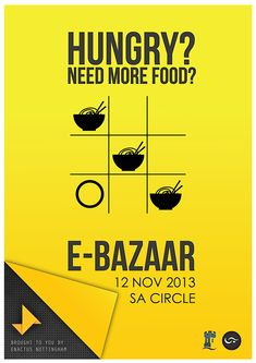 Concept poster designed for E-Bazaar event at University of Nottingham Malaysia Campus organized by Enactus Nottingham.