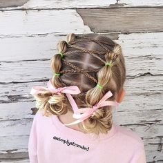 """""""Bubble ponies with cross cross braids.  { inspired by hairstyles I saw on both @prettylittlebraids and @toddlerhairideas } #adventbraidingsurprises3rd #adventbraidingsurprises #bubblepony #cghphotofeature"""" Photo taken by @simplystranded on Instagram, pinned via the InstaPin iOS App! http://www.instapinapp.com (12/03/2015)"""