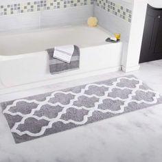 Love this bathroom rug!!! #bathroomdecor #bathroomrug #rug #affiliate
