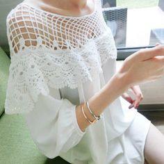 Barato Ladies blusa branca renda Patchwork Chiffon das mulheres do Vintage vestido de camisa nova moda primavera verão 2015 em estilo europeu Y46, Compro Qualidade Vestidos diretamente de fornecedores da China:     Senhoras Branco Blusa de renda patchwork chiffon de alta qualidade mulheres vestido de camisa de moda de nova