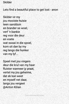 Afrikaans, Poems, How To Get, Let It Be, Quotes, Quotations, Poetry, Verses, Quote