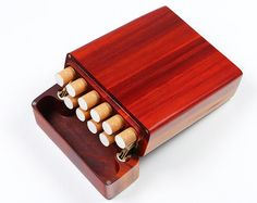 Medida nogal 8 X caso de cigarritos pequeña caja de por iWoodShop