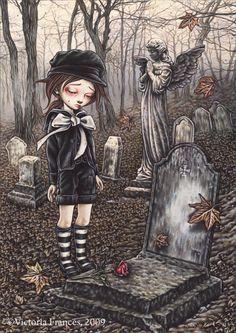 Random Victoria Frances Gothic Artworks: Sit Back and Enjoy the Show! Dark Fantasy Art, Fantasy Kunst, Fantasy Artwork, Dark Art, Art Emo, Goth Art, Art And Illustration, Animal Illustrations, Illustrations Posters