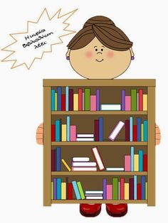στάση νηπιαγωγείο: Η κυρία Βιβλιοθήκη! Bookmarks, Bookcase, Teaching, Education, School, Blog, Therapy, Decor, Marque Page