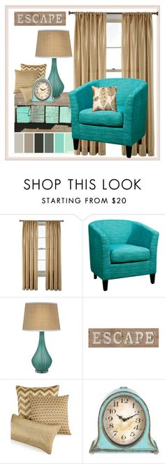 """Escape"" by interiordesign4home ❤ liked on Polyvore featuring interior, interiors, interior design, home, home decor, interior decorating, Royal Velvet, Dot & Bo, Jamie Young and Pier 1 Imports"