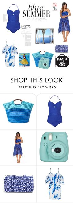 """""""Have Fun in a Blue Summer!!!!"""" by bearteddyblitz on Polyvore featuring Alex + Alex, Phase Eight, M&Co, Fujifilm, Vera Bradley, New Look, H&M, Packandgo and greekislands"""