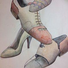 #aldanondoyfdez #shoes #shoemaker #bespoke #bespokeshoes #menshoes #menswear #womenshoes #womenswear #unisex #watercolour