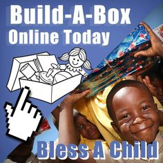 Re-pin if you've given a shoe box gift this year for Operation Christmas Child! Now you can Build-A-Box online and bless even more children! CLICK HERE: http://spsocial.org/JJd