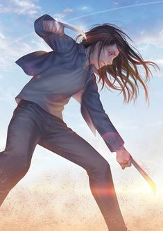 Laura Kinney a.k.a. X-23. Today is one of those days on which I just want to go to sleep and not waking up 'til 70 years later because shits just kept on happening. So I said fuk it,...