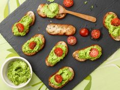 Giada combines peas, garlic and grated Parmesan in her food processor to create a simple, spreadable pesto for crunchy grilled baguette slices.