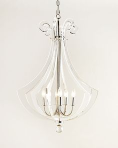 Acrylic Silhouette Six-Light Chandelier, Regina Andrew