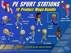 17 best images about pe bulletin boards and printables on Pe Games, Activity Games, Pe Activities, Health And Physical Education, Special Education, Early Education, Pe Bulletin Boards, Promotion Strategy, Gaming Station