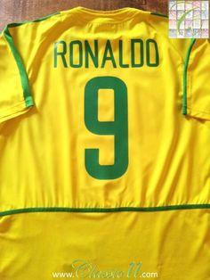 2002/03 Brazil Home Football Shirt Ronaldo