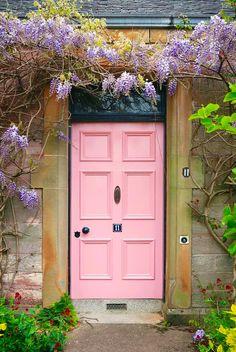 green + pink + lilac + black | curb appeal | Alloa, Clackmannanshire, Scotland