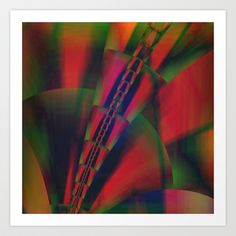 multicolored abstract no. 9 Art Print by Christine baessler - $15.00