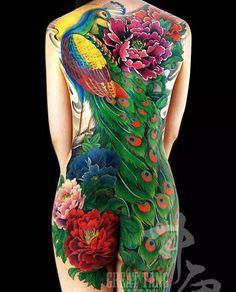 "1,391 Likes, 14 Comments - 👉#Asian_inkandart 👈 (@asian_inkandart) on Instagram: ""Fullback peacock tattoo on lady done by 🔥 @greattangtattoo #asian_inkandart"""