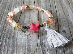 Girls bracelet Gemstone tassel bracelet Girls star door KennlyDesign