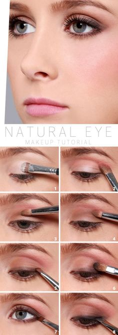 Natural Eye Makeup Tutorial - I pin a lot of make tutorials I never use but I am definitely trying this.