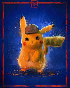Detective Pikachu is back! Pikachu Pikachu, Foto Pikachu, Deadpool Pikachu, Cute Pokemon Wallpaper, Cartoon Wallpaper, Wallpapers Kawaii, Pikachu Drawing, Pokemon Backgrounds, Pokemon Movies