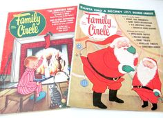 Vintage Christmas Magazines 1960's Family by ThirstyOwlVintage