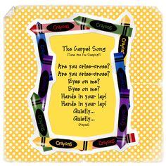 The Carpet Song - circle time Kindergarten Songs, Preschool Music, Kindergarten Classroom, Classroom Activities, Preschool Ideas, Classroom Ideas, Classroom Routines, Preschool Transitions, Primary Activities