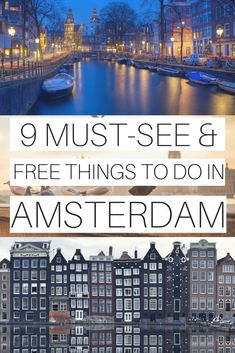 Visiting Amsterdam for the first time? There are several free things to do in Amsterdam if you are travelling on a budget. Europe Destinations, Europe Travel Tips, European Travel, Budget Travel, Travel Guides, Europe Budget, Travel Checklist, Travel Hacks, Holiday Destinations
