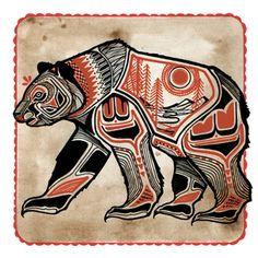 bear   drawing by tattoo artist David Hale