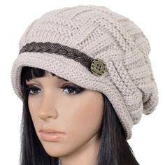 35.99$  Buy here - http://viksc.justgood.pw/vig/item.php?t=j14c39k16370 - Craze Slouchy Cabled Knit Winter Beanie Crochet Hat Newsboy Skull Cap 35.99$