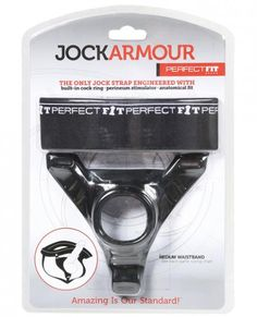 Perfect Fit Jock Armour Medium Waistband - Black
