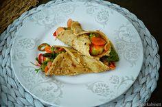 KNUSPERKABINETT: Vegane und glutenfreie Tortillas aus Quinoa mit gr... Yummy Healthy Snacks, Quinoa, Tacos, Mexican, Ethnic Recipes, Food, Fitness, Food Cakes, Vegan Main Dishes