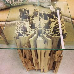 Pecky cypress coffee table. Natural Creations by John Gabrielson. Old growth cypress reclaimed from Fl river.