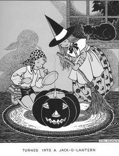 """Pumpkin pumpkin round and fat,Turned into a jack-o-lantern just like that.""  JOL fabbie & charm"