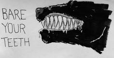 Wolf. Werewolf. Hawkins. Text. Photo. Art. Black. White.