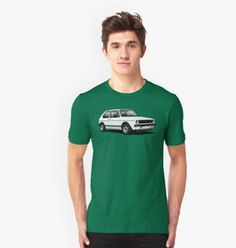 The first Hot Hatch VW Golf GTI T-shirts. Mk1, Volkswagen Golf, Polo Ralph Lauren, Automobile, Mens Tops, T Shirt, Cars, Women, Fashion