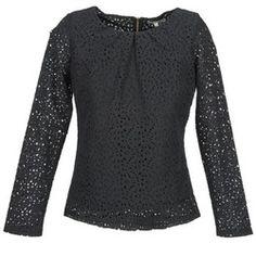 Textil Mulher Tops / Blusas Betty London DOUNI Preto