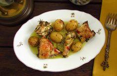 Frango no forno com batatas   Food From Portugal