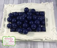 20mm Navy Dark Blue chunky acrylic bubblegum beads - Gumball beads - chunky necklace supply - UK SELLER