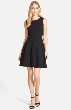 Halogen® Ponte Fit & Flare Dress  (Regular & Petite)