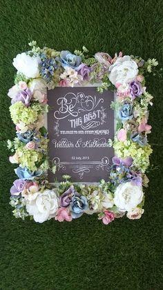 百花繚乱ウェルカムボード2! アートフラワー♪ Clay Art Wedding http://clayartwedding.net/