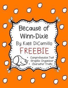 Freebie for Because of Winn Dixie book