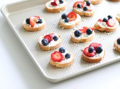 For our Fourth of July picnic, we couldn't resist making red, white & blue bruschetta. Pretty, patriotic & tasty! Bruschetta is an easy to pack appetizer that you can pre-make on the grill or in the oven in minutes. It's easy to eat & great to snack on.