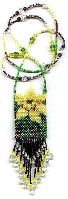 Daffodil Beaded Necklace